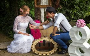 Un angolo fotografico di un matrimonio in stile shabby chic