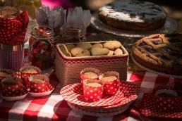 Buffet di dolci a tema picnic