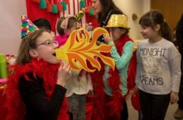 Il tema circo di una festa per bambini